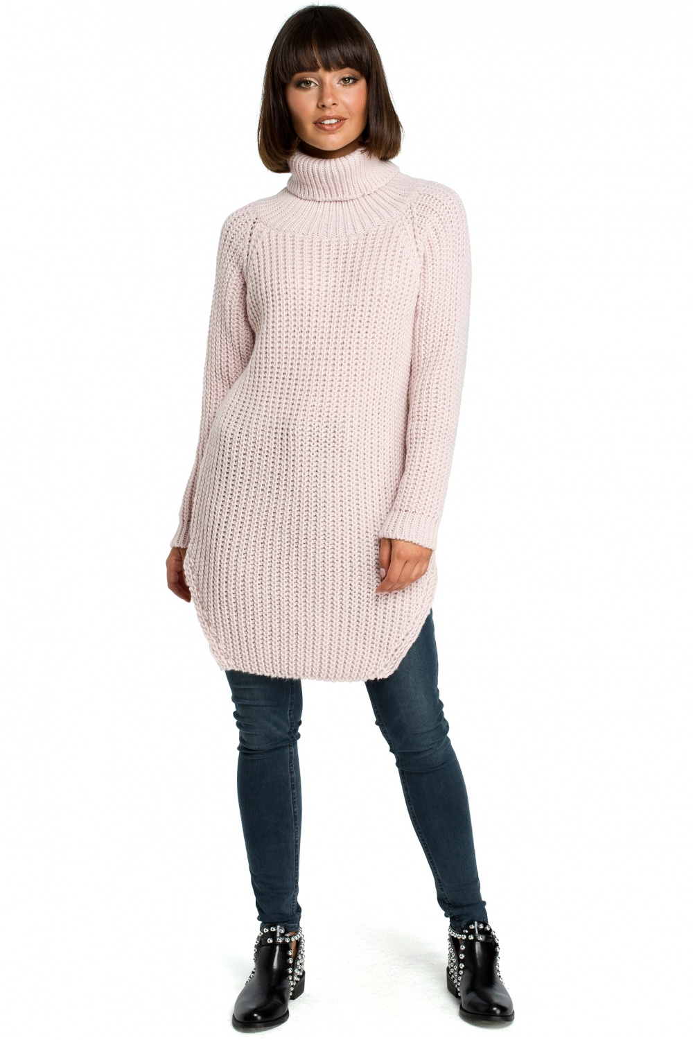 Pulover lung model 121216 BE Knit