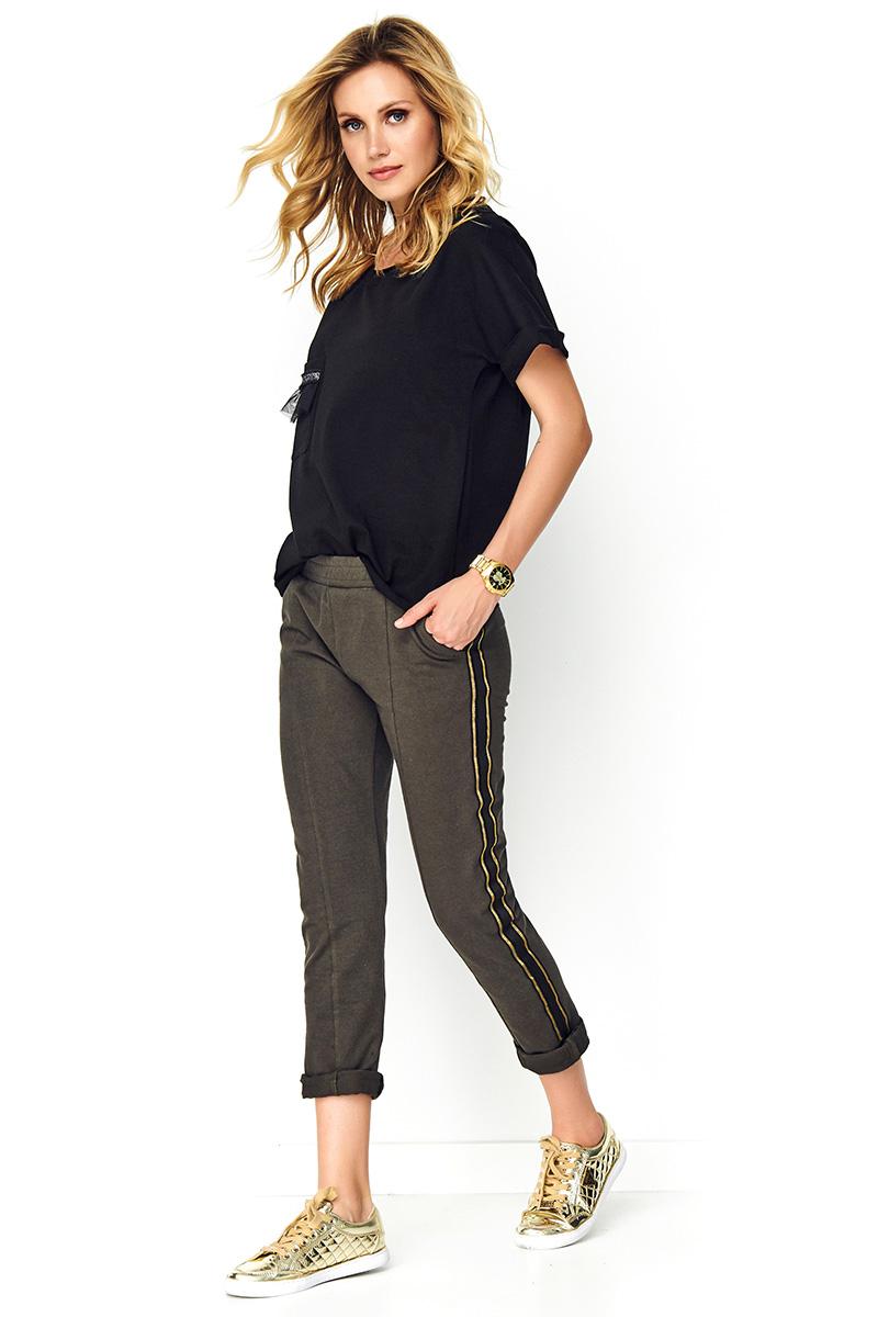 Pantaloni de dama model 137954 Makadamia